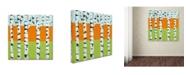 "Trademark Global Michelle Calkins 'Seasonal Birches - Spring' Canvas Art - 14"" x 14"""