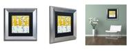 "Trademark Global Michelle Calkins 'Seasonal Birches - Winter' Matted Framed Art - 11"" x 11"""