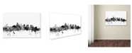 "Trademark Global Michael Tompsett 'Boston MA Skyline B&W' Canvas Art - 12"" x 19"""