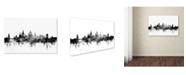 "Trademark Global Michael Tompsett 'Oxford England Skyline B&W' Canvas Art - 12"" x 19"""
