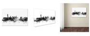 "Trademark Global Michael Tompsett 'Las Vegas Nevada Skyline B&W' Canvas Art - 12"" x 19"""