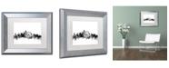 """Trademark Global Michael Tompsett 'Philadelphia PA Skyline B&W' Matted Framed Art - 11"""" x 14"""""""