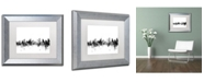 "Trademark Global Michael Tompsett 'Ottawa Canada Skyline B&W' Matted Framed Art - 11"" x 14"""