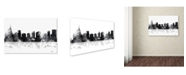 "Trademark Global Marlene Watson 'Orlando Florida Skyline BG-1' Canvas Art - 12"" x 19"""