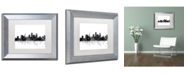 """Trademark Global Marlene Watson 'St Paul Minnesota Skyline BG-1' Matted Framed Art - 11"""" x 14"""""""