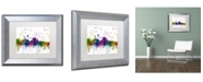 "Trademark Global Marlene Watson 'Augusta Maine Skyline Mclr-1' Matted Framed Art - 11"" x 14"""