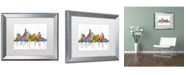 "Trademark Global Marlene Watson 'Dallas Texas Skyline Mclr-1' Matted Framed Art - 16"" x 20"""