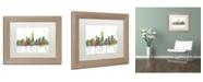 "Trademark Global Marlene Watson 'Indiana Indianapolis Skyline Mclr-1' Matted Framed Art - 11"" x 14"""