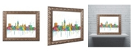 "Trademark Global Marlene Watson 'Lansing Michigan Skyline Mclr-1' Ornate Framed Art - 11"" x 14"""