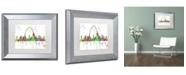 "Trademark Global Marlene Watson 'St Louis Missouri Skyline Mclr-1' Matted Framed Art - 11"" x 14"""