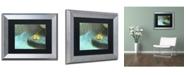 "Trademark Global PIPA Fine Art 'Misty Leaf' Matted Framed Art - 11"" x 14"""
