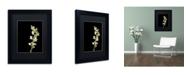 """Trademark Global PIPA Fine Art 'White Snapdragons' Matted Framed Art - 11"""" x 14"""""""