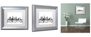 "Trademark Global Marlene Watson 'Los Angeles CA Skyline BG-2' Matted Framed Art - 11"" x 14"""