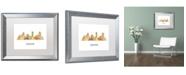 "Trademark Global Marlene Watson 'Denver Colorado Skyline WB-1' Matted Framed Art - 16"" x 20"""