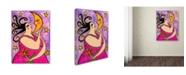 "Trademark Global Wyanne 'Big Diva Kissing The Moon' Canvas Art - 14"" x 19"""