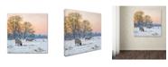 "Trademark Global The Macneil Studio 'Winter Sheep' Canvas Art - 14"" x 14"""