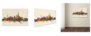 "Trademark Global Michael Tompsett 'Shanghai China Skyline' Canvas Art - 12"" x 19"""