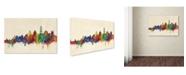 "Trademark Global Michael Tompsett 'Santorini Skyline' Canvas Art - 12"" x 19"""