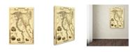 "Trademark Global Lantern Press 'Map 20' Canvas Art - 12"" x 19"""