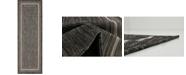 Bridgeport Home Pashio Pas5 Black 2' x 6' Runner Area Rug