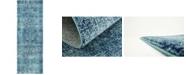 """Bridgeport Home Wisdom Wis3 Turquoise 2' 2"""" x 6' Runner Area Rug"""