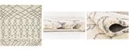Bayshore Home Bridgeport Home Fazil Shag Faz2 Pure Ivory 8' x 8' Square Area Rug