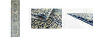 Bridgeport Home Masha Mas5 Navy Blue 3' x 13' Runner Area Rug