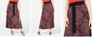 INC International Concepts INC Printed Tie-Waist Skirt, Created for Macy's