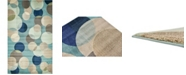 "Bridgeport Home Crisanta Crs6 Blue 10' 6"" x 16' 5"" Area Rug"