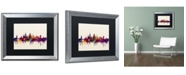 """Trademark Global Michael Tompsett 'Oxford England Skyline' Matted Framed Art - 16"""" x 20"""""""