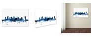 """Trademark Global Michael Tompsett 'Nashville Tennessee Skyline White' Canvas Art - 16"""" x 24"""""""