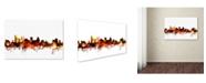 "Trademark Global Michael Tompsett 'Baltimore Maryland Skyline Red' Canvas Art - 16"" x 24"""