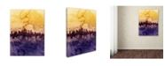 "Trademark Global Michael Tompsett 'Philadelphia PA Skyline Tall' Canvas Art - 18"" x 24"""