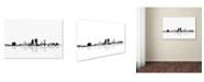"Trademark Global Marlene Watson 'Jacksonville Florida Skyline BG-1' Canvas Art - 16"" x 24"""