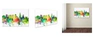 "Trademark Global Marlene Watson 'Philadelphia Skyline SP' Canvas Art - 16"" x 24"""