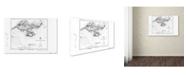 "Trademark Global Lantern Press 'Map 6' Canvas Art - 16"" x 24"""