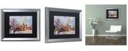 "Trademark Global Richard Wallich 'Brooklyn Bridge' Matted Framed Art - 16"" x 20"""