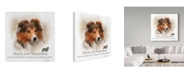 "Trademark Global Howard Robinson 'Shetland Sheepdog' Canvas Art - 18"" x 18"""