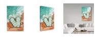 "Trademark Global Melinda Hipsher 'Flip Flops On The Beach Plain' Canvas Art - 16"" x 24"""