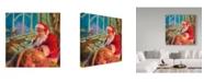 """Trademark Global Steve Henderson 'Santa World Traveler' Canvas Art - 18"""" x 18"""""""