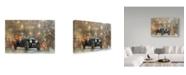 "Trademark Global Peter Miller 'Christmas Bentley' Canvas Art - 16"" x 24"""