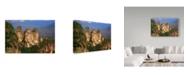 "Trademark Global Incredi 'Natural Cliffs' Canvas Art - 24"" x 16"""