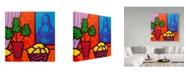 "Trademark Global John Nolan 'Still Life With Matisse And Mona Lisa' Canvas Art - 18"" x 18"""