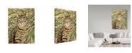 "Trademark Global Jan Benz 'Tiger Domestic' Canvas Art - 14"" x 19"""