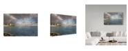 "Trademark Global Jason Matias 'Honolulu Rainbow Coast' Canvas Art - 19"" x 12"""