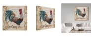 "Trademark Global Jean Plout 'Le Coq 4' Canvas Art - 24"" x 24"""