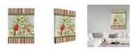 "Trademark Global Jean Plout 'Christmas Birds 3' Canvas Art - 14"" x 19"""