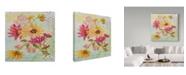 "Trademark Global Jean Plout 'Garden Beauty 3' Canvas Art - 18"" x 18"""