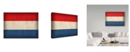 "Trademark Global Red Atlas Designs 'Netherlands Distressed Flag' Canvas Art - 19"" x 14"""