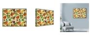 "Trademark Global Laurie Korsgaden 'Autumn Pattern Vegetables' Canvas Art - 24"" x 18"""